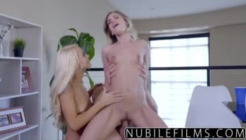 Blonde babes Karol Lilien and Cayla join hottie Vanessa Decker for a sensual lesbian menage a...
